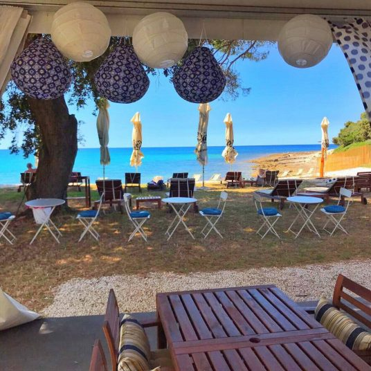 Hotel beach in Istria